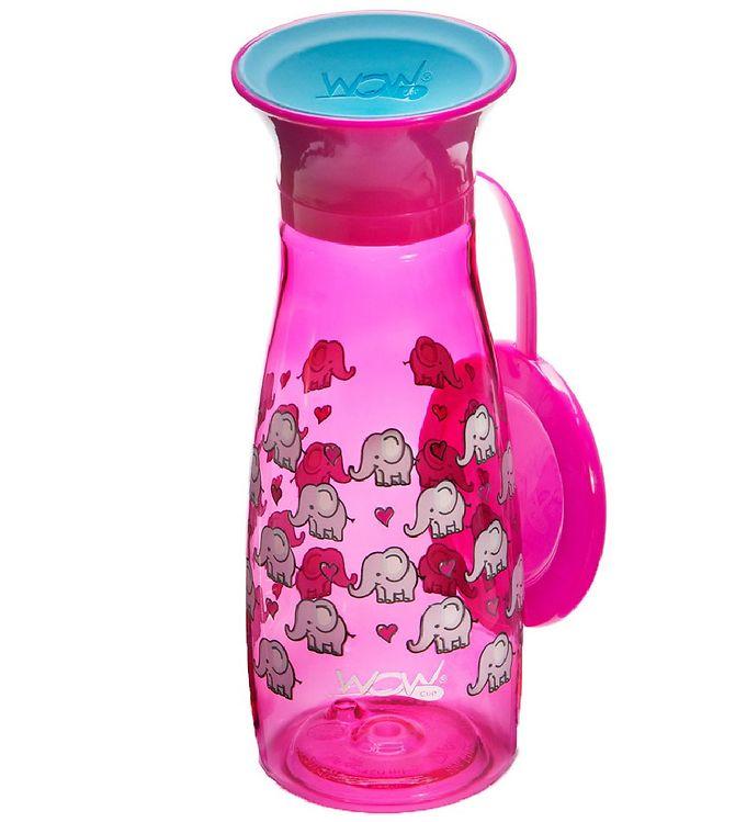 Billede af Wow Cup Drikkedunk - Mini - Pink m. Elefanter