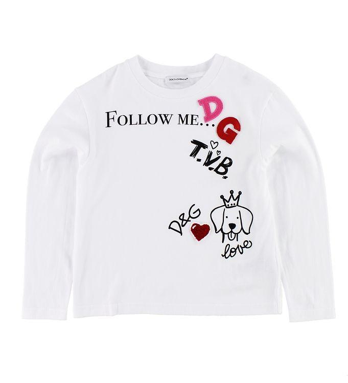 Billede af Dolce & Gabbana Bluse - Hvid m. Print/Patches