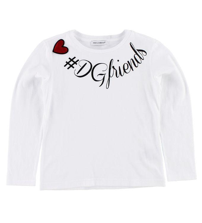 Billede af Dolce & Gabbana Bluse - Hvid m. Print/Hjerte