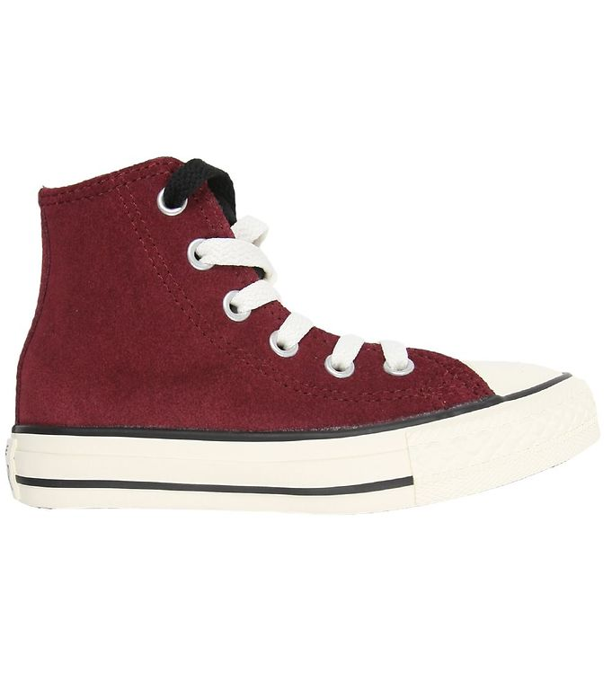 Image of Converse All Star Hi - Bordeaux m. Fór (K384)