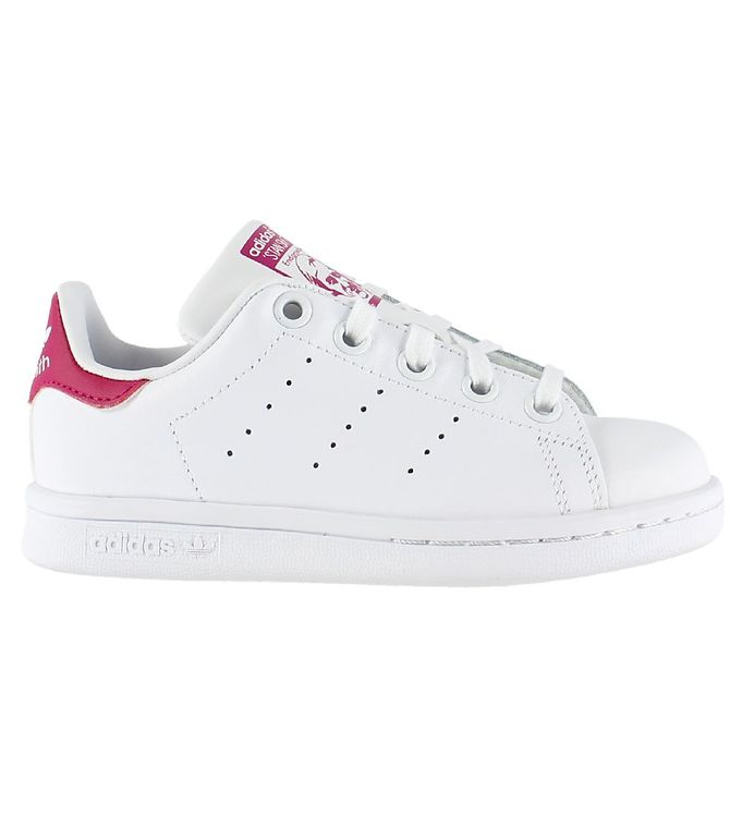 Image of adidas Originals Sko - Stan Smith - Hvid/Pink m. Snøre (KB311)