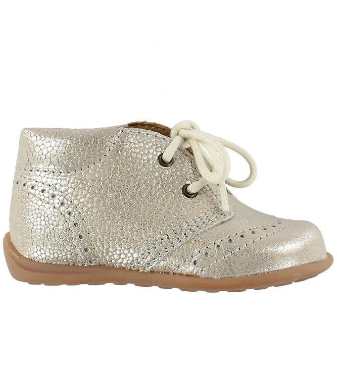 Bisgaard prewalker sko - sølv m. snører fra bisgaard fra kids-world