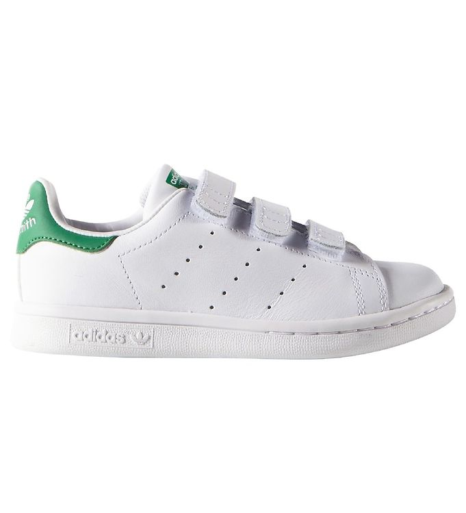 adidas Originals Sko Stan Smith HvidGrøn m. Velcro