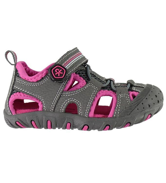 Color kids sandaler - noha - koksgrå/fuchsia fra color kids fra kids-world