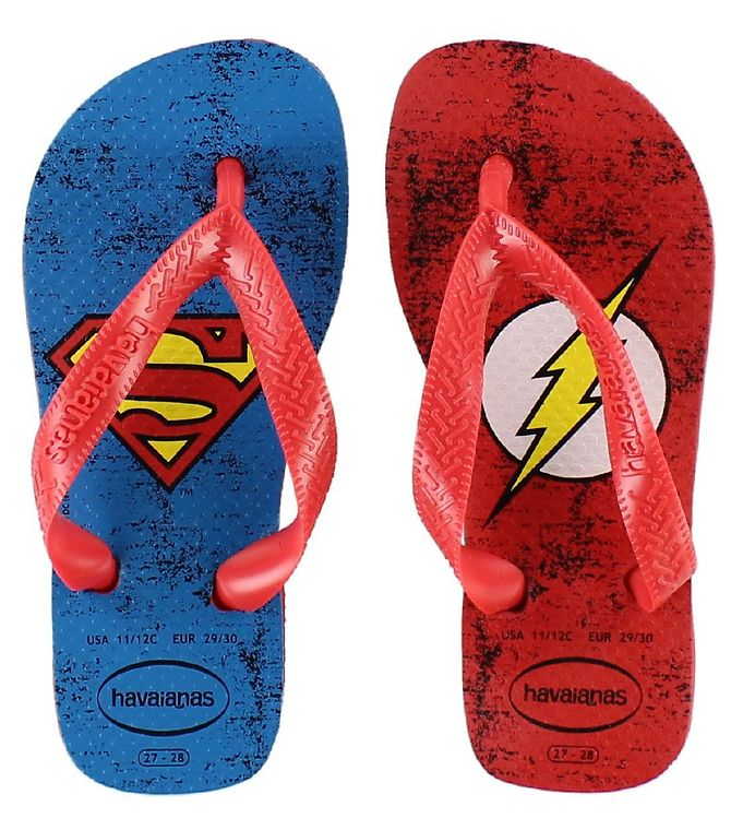 Image of Havaianas Klipklapper - DC Herois - Rød m. Superman/The Flash (KD808)