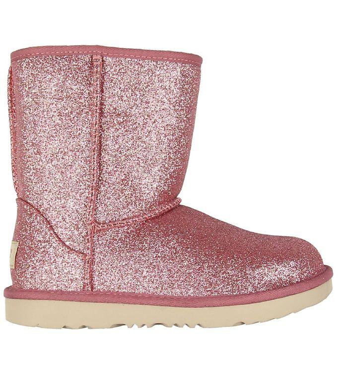 Image of UGG Bamsestøvler - Short II Glitter - Pink (KE484)