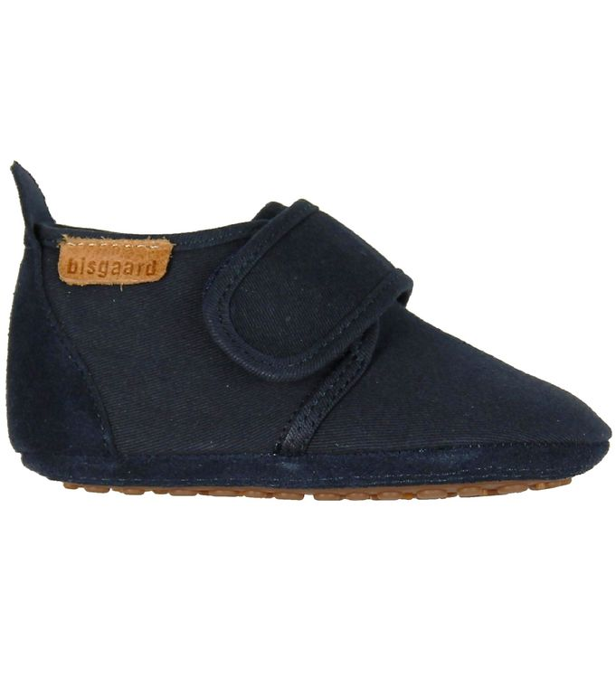 Image of Bisgaard Hjemmesko - Cotton - Navy m. Velcro (KF074)