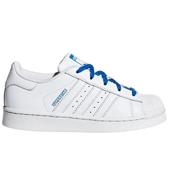 Image of adidas Originals Sko - Superstar - Hvid m. Blå (KF271)