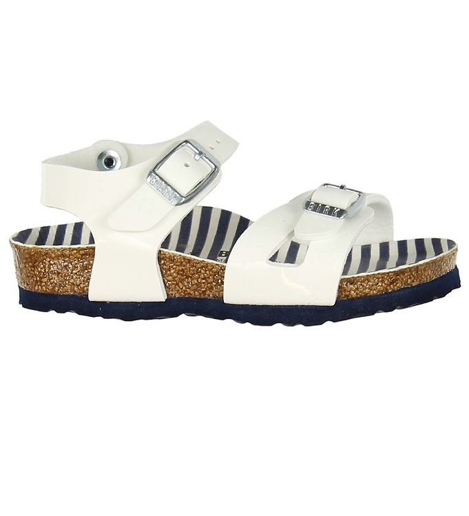 Image of Birkenstock Sandaler - Rio - Nautical Stripes White (KF426)