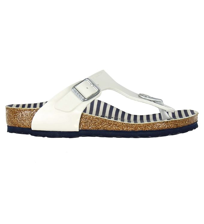 Image of Birkenstock Sandaler - Gizeh - Nautical Stripes White (KF437)