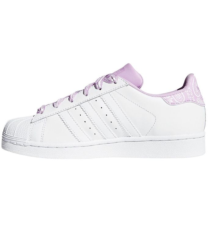 adidas Originals Sko Superstar Hvid m. Purple Glow