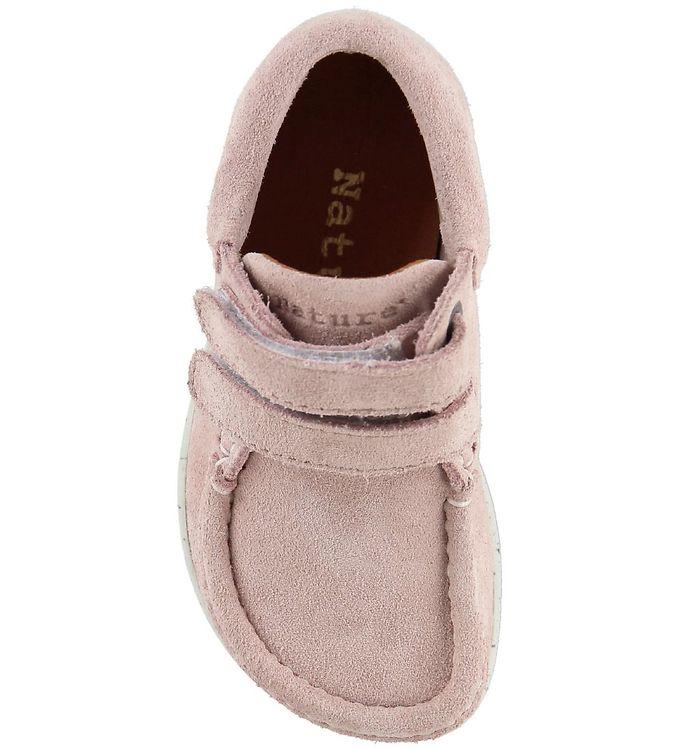 c83a50c02533 Nature Sko - Suede - Baby Pink