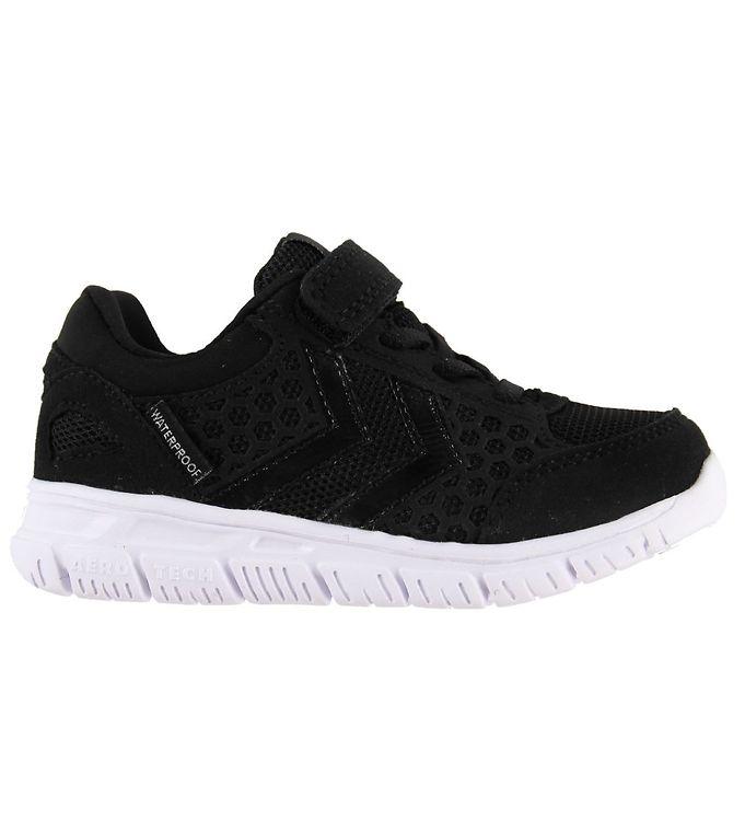 Hummel Sko - Crosslite Jr Waterproof - Black/Black - ,09 - Hummel,Hummel Børnesko,Hummel Sko,Hummel Sneakers - Hummel