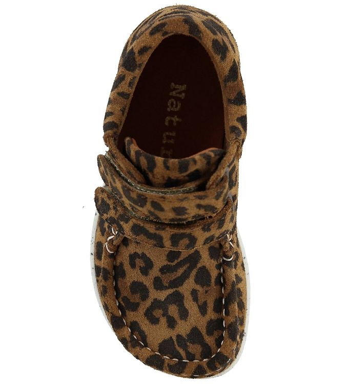 Nature Kids i mønstret leopard ruskind