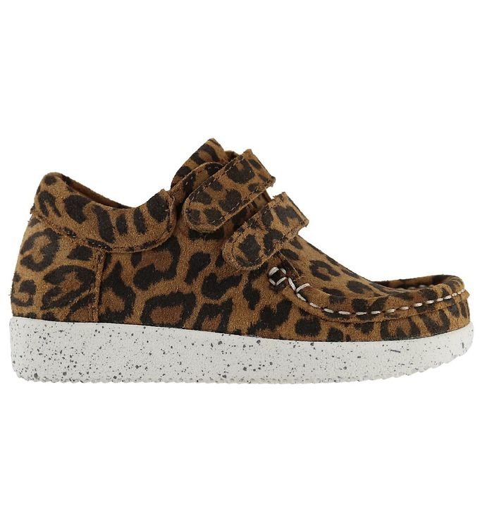 Image of Nature Sko - Suede - Leopard (KF829)