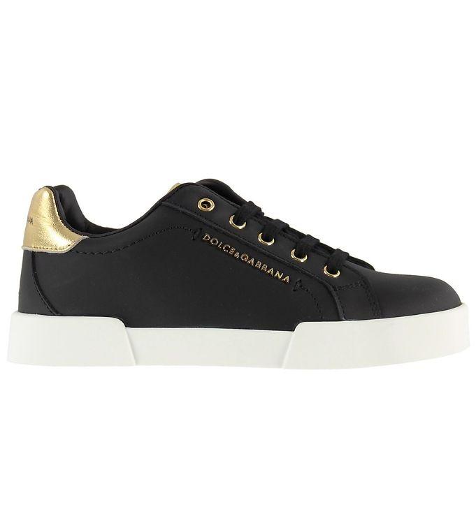 Image of   Dolce & Gabbana Sneakers - Hawaii - Sort m. Guld