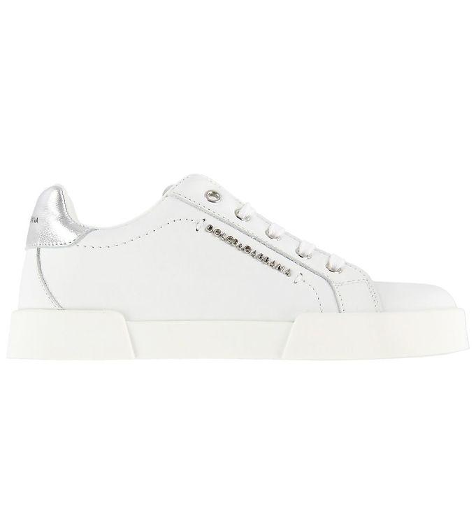 Image of   Dolce & Gabbana Sneakers - Hawaii - Hvid m. Sølv