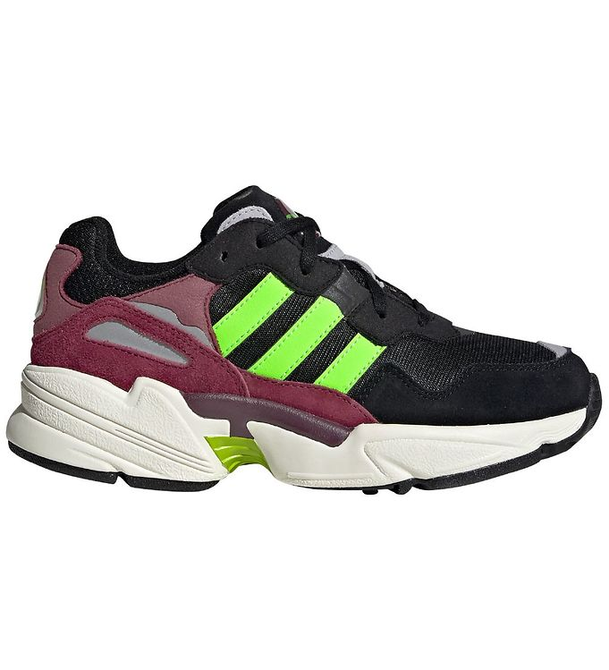 Image of adidas Originals Sko - Yung-96 J - Sort/Bordeaux/Neon Grøn (KG534)