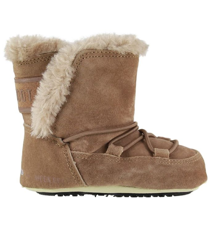 Image of Moon Boot Begyndersko - Crib Suede - Whiskey (KG790)