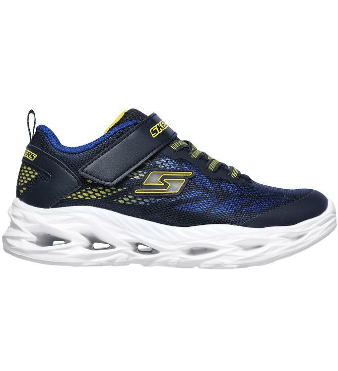 Image of Skechers Sko m. Lys - Boys Vortex-Flash - Blå/Gul (KH031)