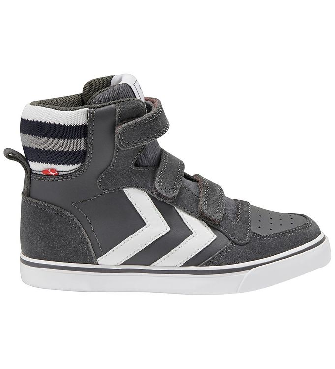 Hummel Sko - Stadil Pro Jr - Asphalt - ,Hummel Børnesko,Hummel Sko,Hummel Sneakers,Hummel SS20 - Hummel