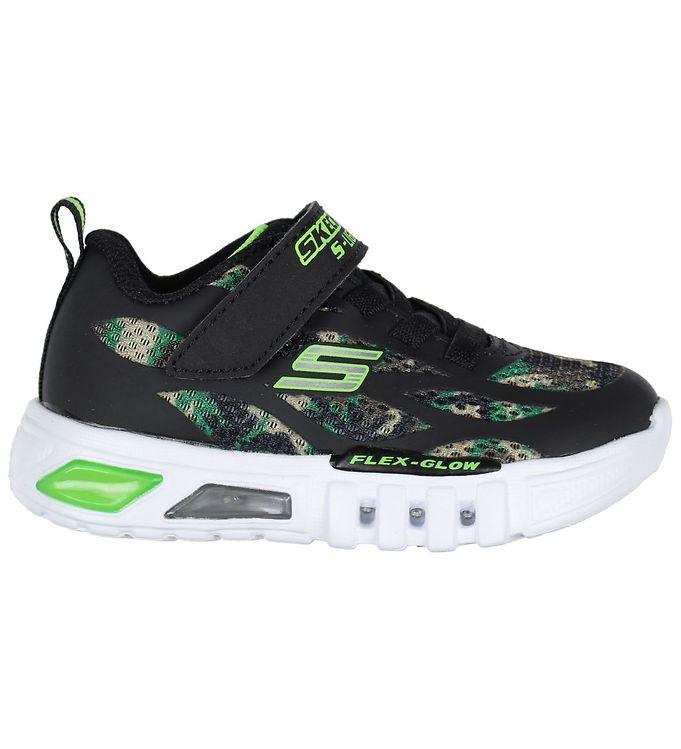 Skechers Sko - Flex Glow - Camouflage m. Blink - Skechers Børnesko,Skechers Sneakers,Skechers SS20,Sneakers med Lys - Skechers