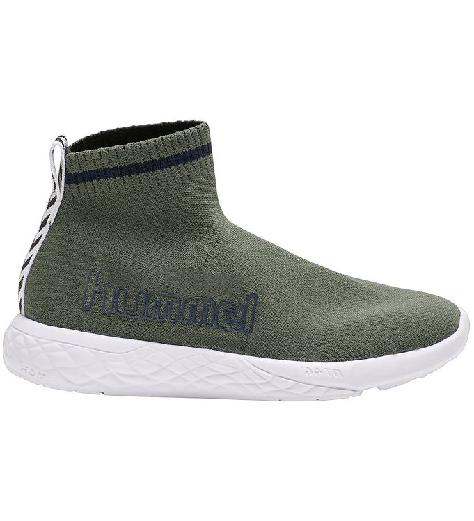 Hummel Sko Terrafly Sock Runner Jr Deep Lichen Green