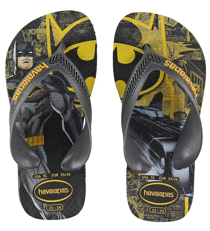 Image of Havaianas Klipklapper - Kids Max Heroes - Sort m. Batman (KI093)
