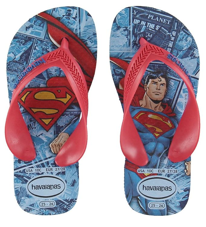 Image of Havaianas Klipklapper - Kids Max Heroes - Blue Star m. Superman (KI105)