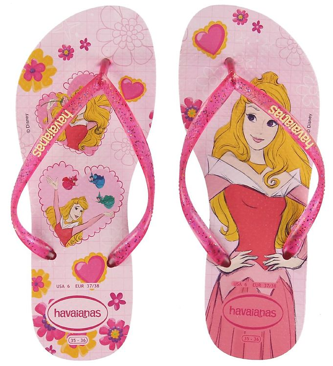 Image of Havaianas Klipklapper - Kids Slim Princess - Cream Rose/Lollipop (KI110)
