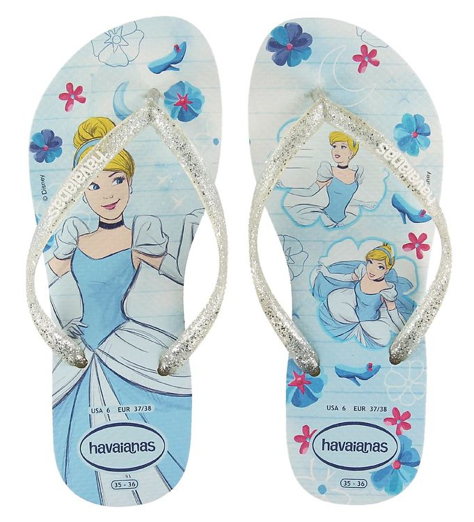 Image of Havaianas Klipklapper - Kids Slim Princess - White/Cotton Candy (KI111)