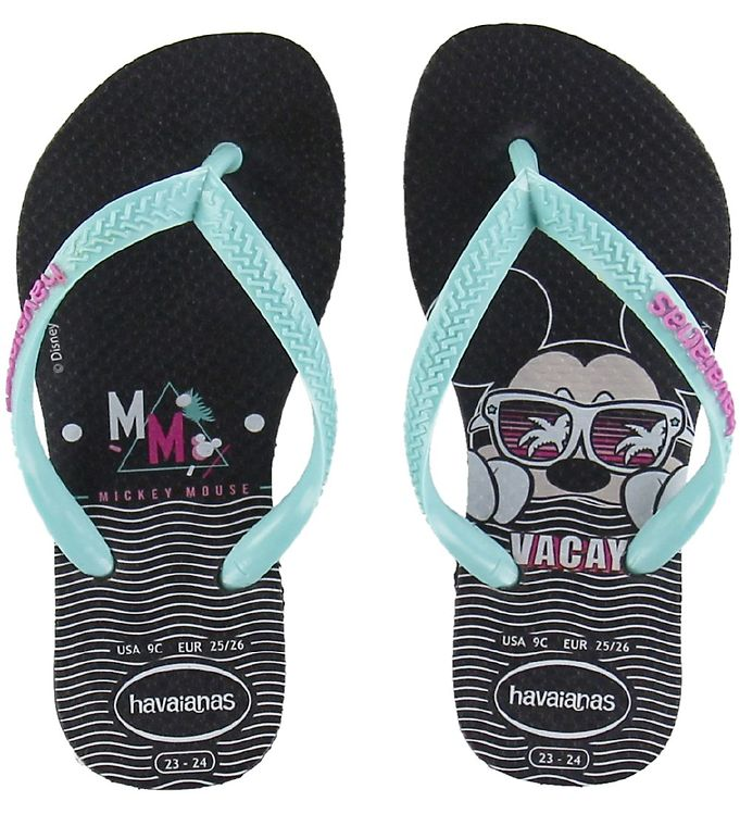 Image of Havaianas Klipklapper - Kids Disney Cool - Sort (KI246)