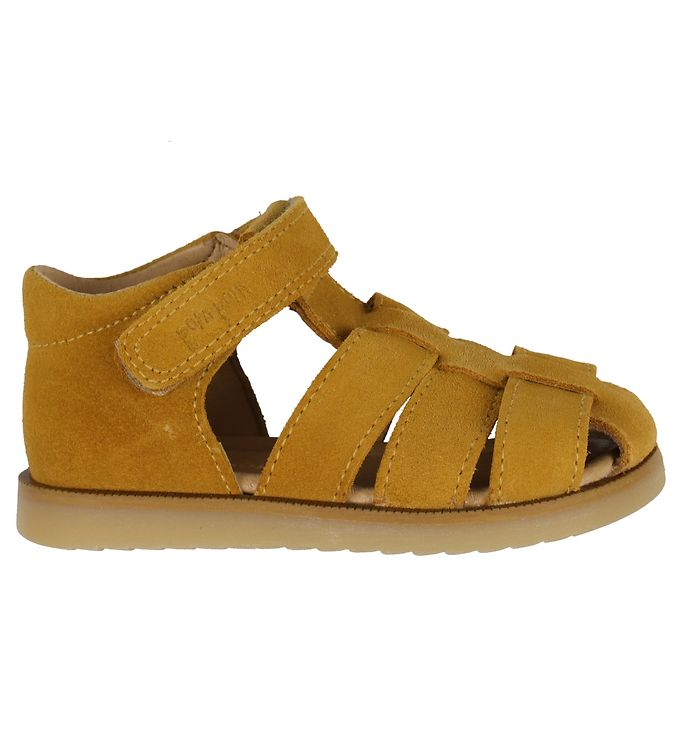 Image of Pom Pom Sandaler - Light Mustard Suede (KJ641)