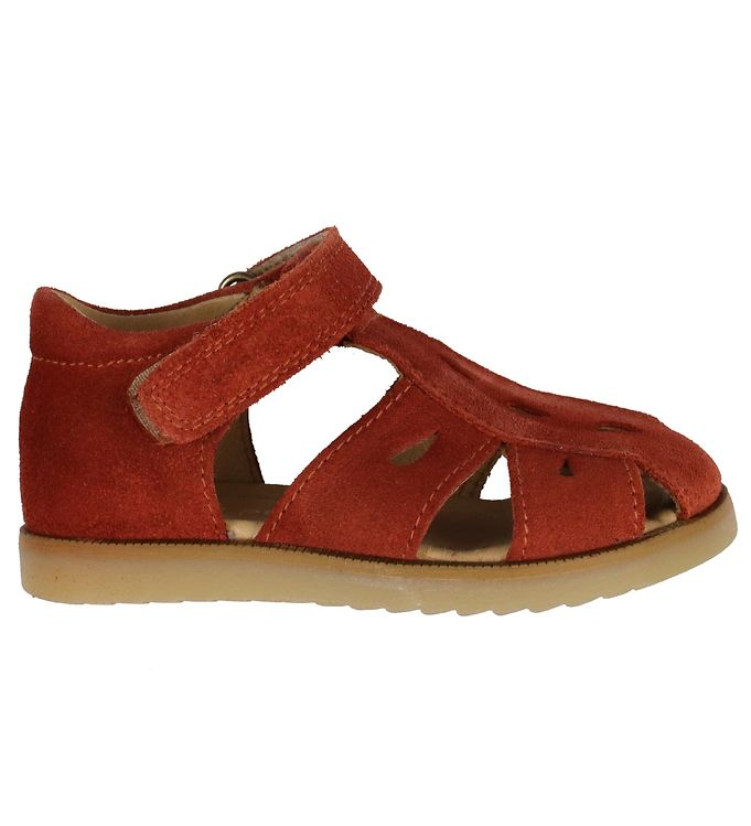 Image of Pom Pom Sandaler - Closed Drops - Tomato Suede (KJ650)