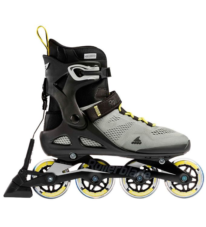 Image of Rollerblade Rulleskøjter - Macroblade - 80 ABT - Silver/Neon Yel (LO315)