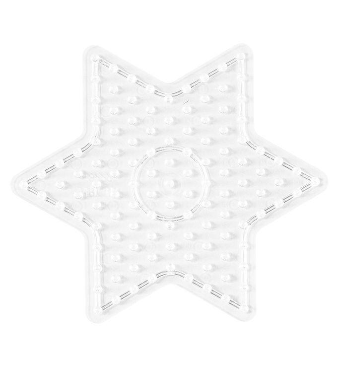 hama Hama midi perleplade - lille stjerne - transparent fra kids-world