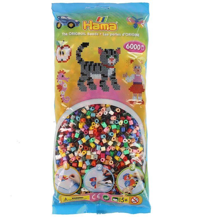 hama – Hama midi perler - 6000 stk - multifarvet fra kids-world
