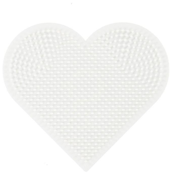 Hama midi perleplade - stor hjerte fra hama fra kids-world