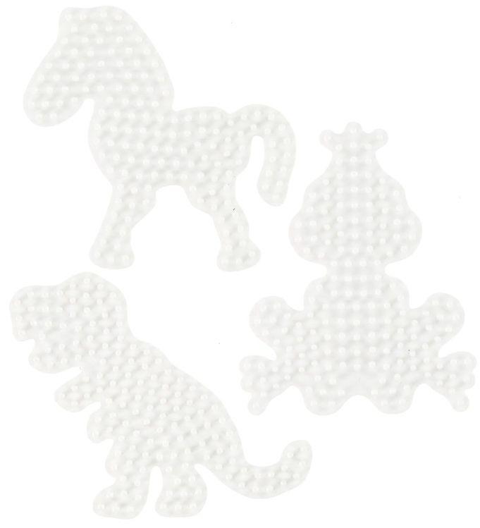 Image of   Hama Midi Perleplader - 3-pak - Pony, Dinosaur & Lille Frø
