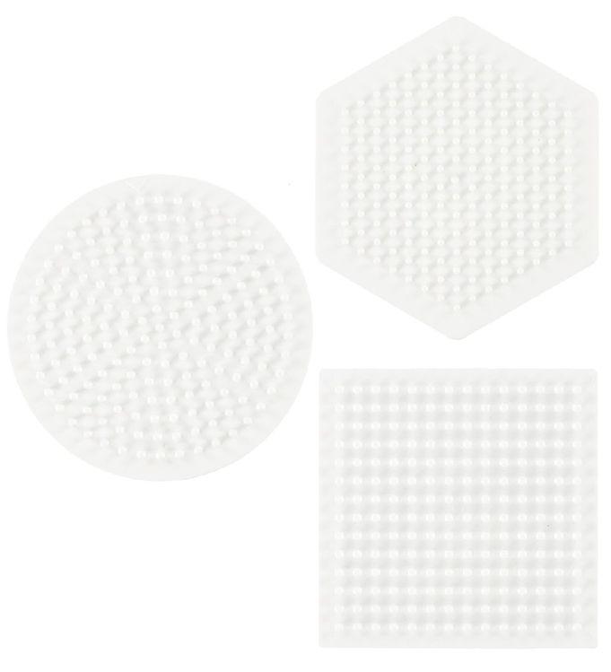 Hama midi perleplader - 3-pak - cirkel, firkant & sekskant fra hama på kids-world