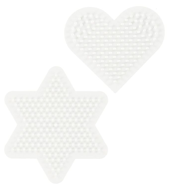 Image of   Hama Midi Perleplader - 2-pak - Hjerte & Stjerne