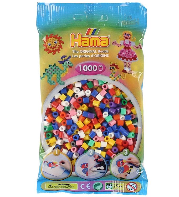 Hama Midi Perler - 1000 stk - Multifarvet