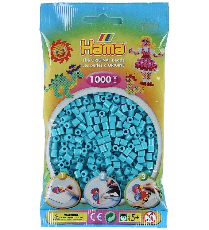 hama – Hama midi perler - 1000 stk - mørk turkis fra kids-world