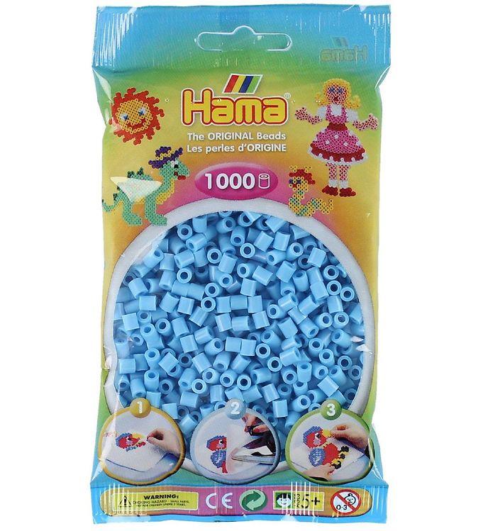 Image of   Hama Midi Perler - 1000 stk - Pastel Blå