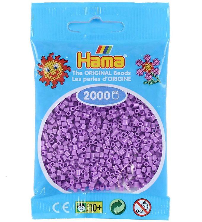 hama – Hama mini perler - 2000 stk - pastel lilla fra kids-world