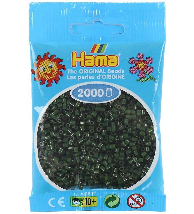 hama Hama mini perler - 2000 stk - mørkegrøn på kids-world