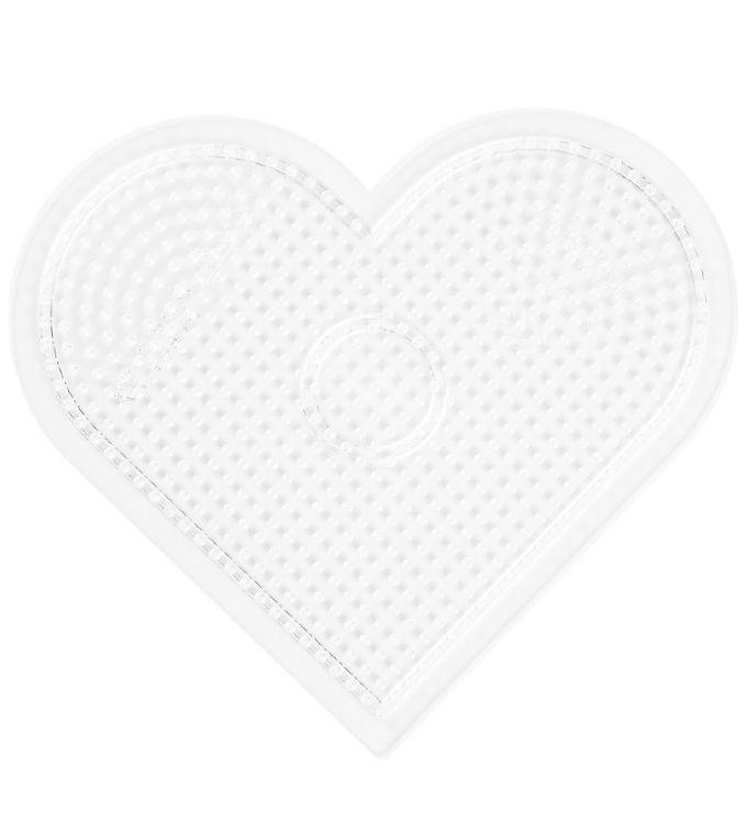 hama – Hama midi perleplade - stor hjerte - transparent fra kids-world
