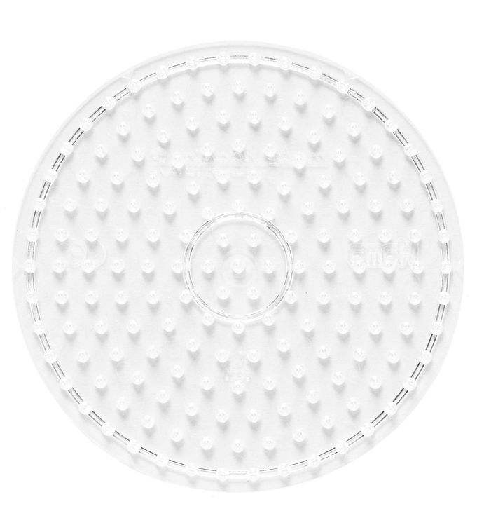 Hama midi perleplade - cirkel - transparent fra hama fra kids-world