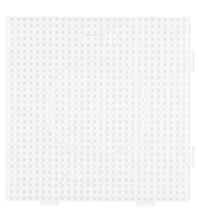 Image of   Hama Midi Perleplade - Stor Firkant - Transparent