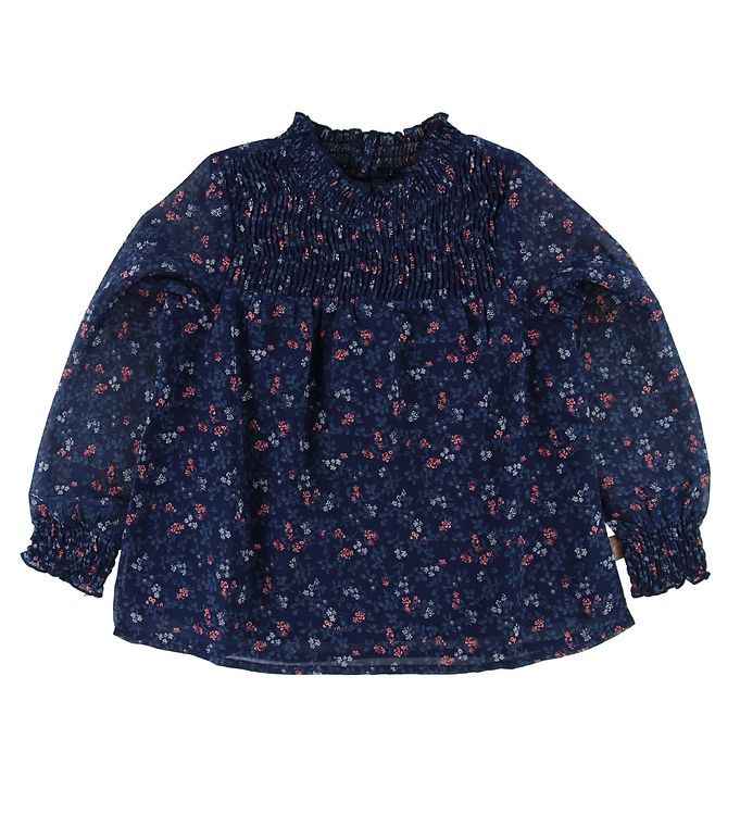 Image of Creamie Bluse - Navy m. Blomster (MA509)